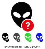 alien status flat vector... | Shutterstock .eps vector #687219244