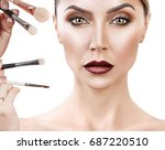 adult woman with make up... | Shutterstock . vector #687220510