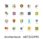 video game genres vector icons... | Shutterstock .eps vector #687222490
