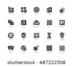video game genres vector icons... | Shutterstock .eps vector #687222508