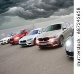 porsche and bmw m series. kiev  ... | Shutterstock . vector #687243658