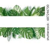 floral seamless pattern.... | Shutterstock .eps vector #687246730