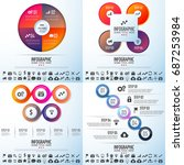 infographics design template... | Shutterstock .eps vector #687253984