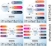 infographics design template... | Shutterstock .eps vector #687254143