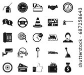 serv. icons set. simple set of... | Shutterstock .eps vector #687258643