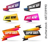 sale banner design template... | Shutterstock .eps vector #687259990