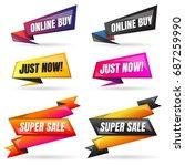 sale banner design template... | Shutterstock .eps vector #687259990