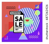 summer sale memphis style web... | Shutterstock .eps vector #687262426