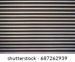 aluminium louver grill texture... | Shutterstock . vector #687262939