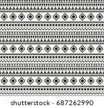 seamless pattern aztecs | Shutterstock .eps vector #687262990