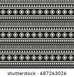 seamless pattern aztecs | Shutterstock .eps vector #687263026