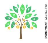 money tree  vector | Shutterstock .eps vector #687263440