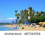 waikiki beach  usa | Shutterstock . vector #687263536
