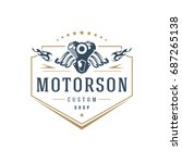 moto club logo template vector... | Shutterstock .eps vector #687265138