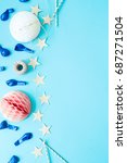 festive. party objects on a... | Shutterstock . vector #687271504