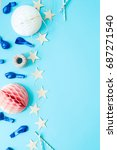 festive. party objects on a... | Shutterstock . vector #687271540