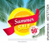 summer sale template banner ... | Shutterstock .eps vector #687277324