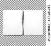 notebook mock up with place for ... | Shutterstock .eps vector #687281068