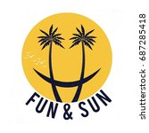 fun   sun funny smile face... | Shutterstock .eps vector #687285418