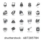 set of 20 flat icons on cookery ... | Shutterstock .eps vector #687285784