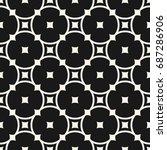 vector monochrome seamless... | Shutterstock .eps vector #687286906