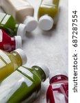 healthy eating  drinks  diet...   Shutterstock . vector #687287554