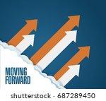 moving forward concept. arrows... | Shutterstock .eps vector #687289450