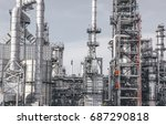 industrial zone the equipment... | Shutterstock . vector #687290818