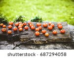 fresh vegetables. cherry... | Shutterstock . vector #687294058