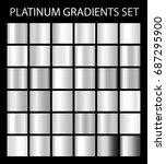 platinum silver gradients.... | Shutterstock .eps vector #687295900