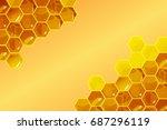 Honeycomb Background Vector...