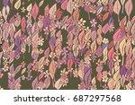 illustrations of leaves  ... | Shutterstock .eps vector #687297568