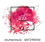pink abstract aquarelle... | Shutterstock .eps vector #687298540