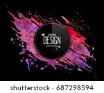 pink purple abstract aquarelle... | Shutterstock .eps vector #687298594