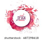 pink abstract aquarelle... | Shutterstock .eps vector #687298618