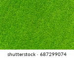 green lawn for background.... | Shutterstock . vector #687299074