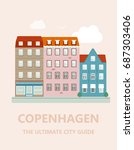 concept for city guide.... | Shutterstock .eps vector #687303406