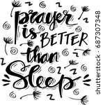 prayer is better than sleep... | Shutterstock .eps vector #687307348