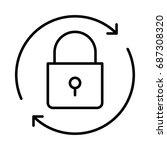 lock reload  | Shutterstock .eps vector #687308320