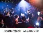 disfocus of the award ceremony... | Shutterstock . vector #687309910