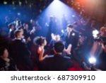 disfocus of the award ceremony... | Shutterstock . vector #687309910