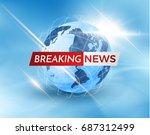 earth globe business background ... | Shutterstock .eps vector #687312499