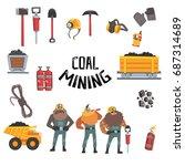 coal mining industry set ... | Shutterstock .eps vector #687314689