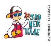spinner time vector  cool boy ...   Shutterstock .eps vector #687316528