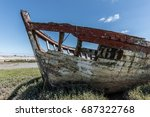 wreck at the boat cemetery at...   Shutterstock . vector #687322768