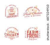 farm fresh chicken marks.... | Shutterstock .eps vector #687324910