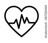 heart beat icon | Shutterstock .eps vector #687326464