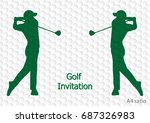 golf tournament invitation... | Shutterstock .eps vector #687326983