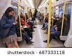 london  uk   april 22  2016 ... | Shutterstock . vector #687333118