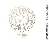 vector logo of nature on white... | Shutterstock .eps vector #687337360